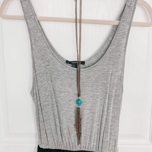 💙3/$12 Forever 21 Long Turquoise Stone Necklace
